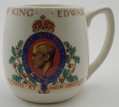 Vintage King Edward VIII 1937 Coronation England Coffee Mug British Pottery