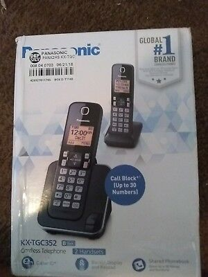 Panasonic KXTGC362B Cordless Phone - 2 Pieces