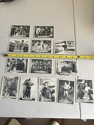 L337 Lot of 13 Topps 1965 Superman Trading Cards