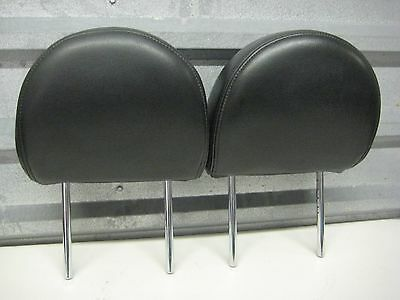 2007-2012 Nissan Sentra Oem Front Seat Head Rests Pair Black Leather Pair 2