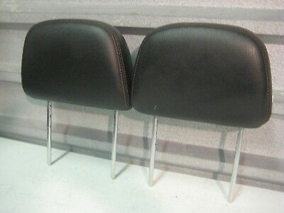 2012-2014 Ford Edge Oem Back Seat Rear Head Rests Headrests Pair Black Leather