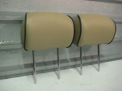 2003-2005 Land Rover Range Rover Oem Rear Head Rests Headrests Pair Tan Leather