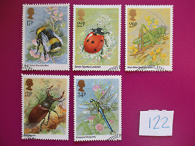 GB 1985 Commemoratives:  Insects, VFU ex-fdc   #122