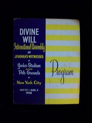 Divine Will Jehovah's Witnesses Watchtower Program 1958