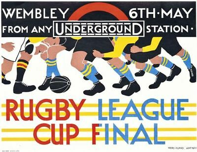 Vintage 1933 Rugby League Challenge Cup Final Poster A4/A3/A2/A1 Print