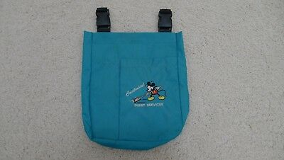Disneyland Official Cast Member Custodial Guest Services Hip Bag Turquoise 1999