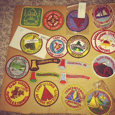20 Boy Scout Bsa Patches Camp Lewis, Camporal New