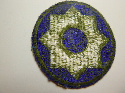 A   WW 2 U S Army 8th Service Command Cut Edge Green Back Patch Glows