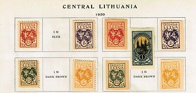 Lithuania Stamp On Album Page