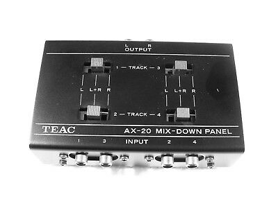 "Original Teac Ax-20 Mix-Down Panel For 1/4"" Four Track Reel To Reel Tape Deck Re"