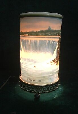 Vintage Econolite Corp Lithograph Niagara Falls Motion Lamp 1955