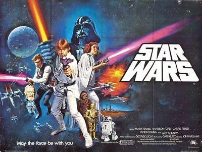 Vintage May The Force Be With You Star Wars Movie Poster A4/A3/A2/A1 Print