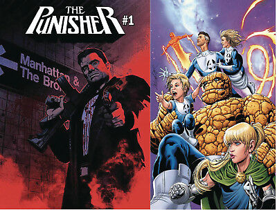 Punisher 1 Cover A and Larocca Fantastic Four Variant Set 8/22 Pre-Sale