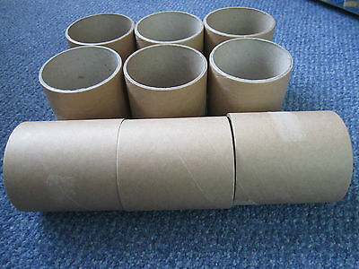 9x 10cm Cardboard Tubes &gift for Rodents Rat Gerbil Hamster Mouse Hide&Chew Toy