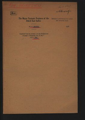The Major Tectonic Features of the Dutch East Indies. Reprinted from the JOURNAL