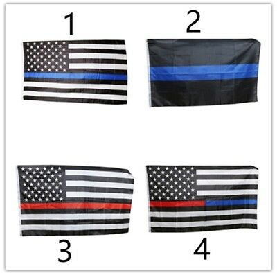 SUPPORT Thin Blue Line Police Flag - Best Quality!!! -  Honor All Who Serve!!!!