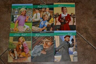 """Boxed Collection """"AMERICAN GIRL"""" Complete set/books 1-6 """"KIT"""" GC"""
