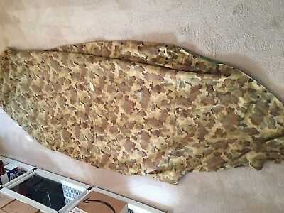 L377 USMC Shelter Half Dated 1953 June Tent Dual Camouflage Very Nice Piece