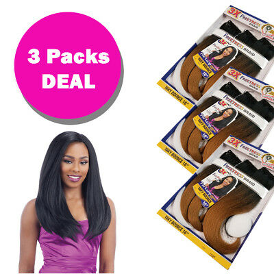 "*3 Pack* 3X Pre-Loop Yaky Bounce 16"" - Freetress Synthetic Crochet Braid"