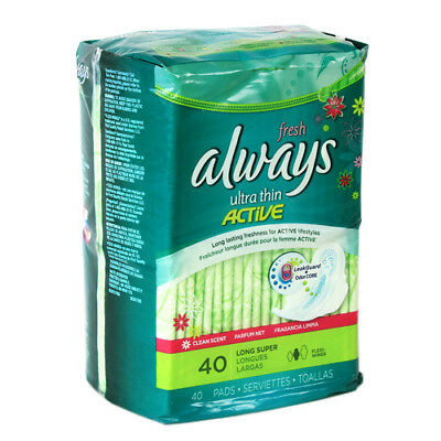 Always Ultra Thin Pads, Super, Flexi-Wings - Pack of 40