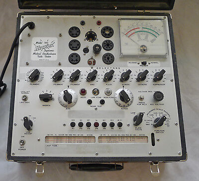 Hickok Model 750 Mutual Conductance Tube Tester Working Just Serviced Calibrated