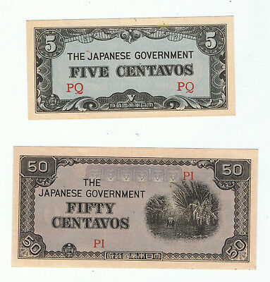Japan World War Invasion Money Centavos
