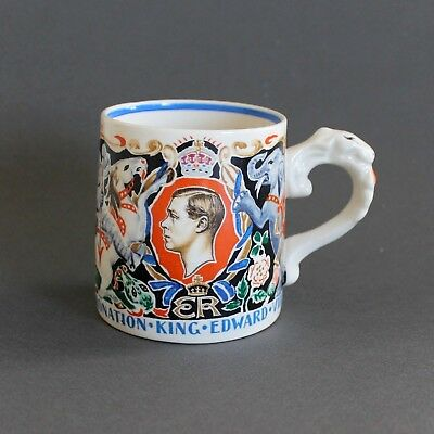 1937 Coronation King Edward VIII, Dame Laura Knight Mug Cup St George Dragon