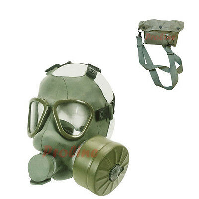 Yugoslavian Serbian Gas Mask with Filter and Canvas Carrier Yugo M1 Gas Mask