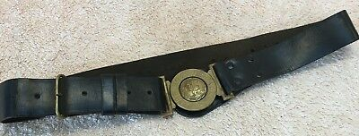The Boys Brigade Leather Belt With Brass Buckle