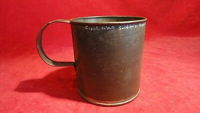 Great Civil War Era Soldier's Tin Drink Cup-From Fort Defiance Museum-Gettysburg