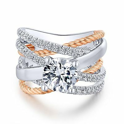 925 Silver White Topaz Set Infinity Fashion Jewelry Women Wedding Ring Sz 5-10