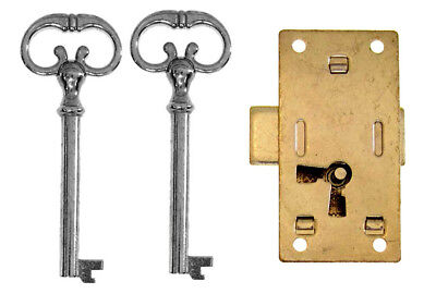 Flush Mounted Lock for Vintage Furniture