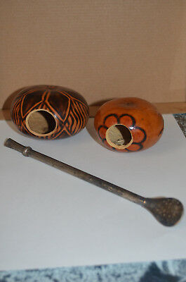 Yerba Mate drinking gourds and straw from Paraguay