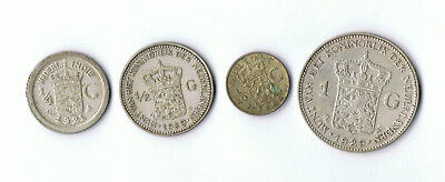 Netherlands And Netherlands East Indies 0.720 Silver Coins