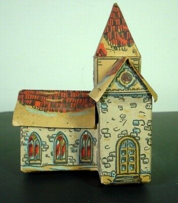 Antique Folded Paper Church - Unique, Very Old Printed Model
