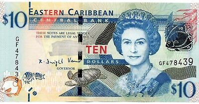 EAST CARIBBEAN STATES $10 Dollars 2016 P52b UNC Banknote