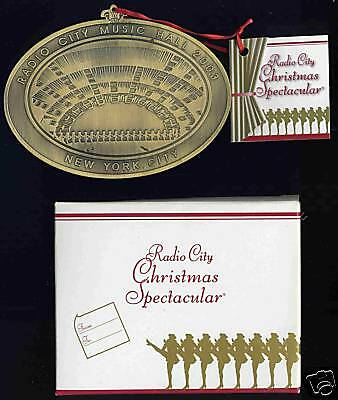 Radio City Music Hall Grand Stage Christmas Spectacular Holiday Ornament (2003)