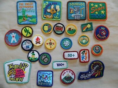 26 Pc. Lot Girl Scout Patches   1990s CNYGS