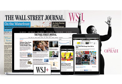 Wall Street Journal Subscription ONE YEAR (Print & Digital Both) Starts Quick