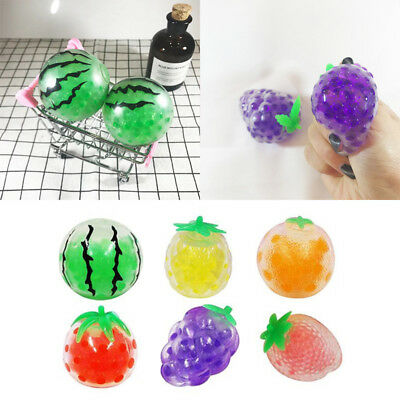 Fruit Strawberry Grape Banana Gel Ball Toy Squishy Anti-Stress Squeeze flexible