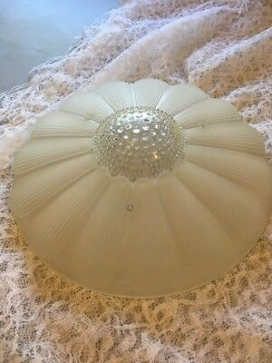 Vintage Frosted Glass Sunflower Shade Light Fixture Ceiling Chandelier 3 chain