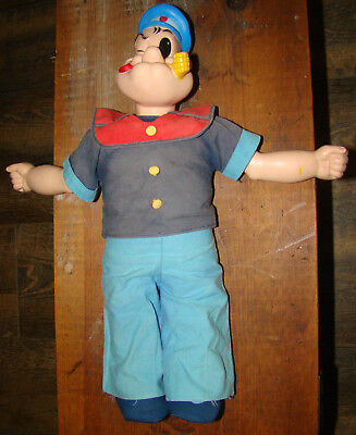 Vintage Popeye Plush Doll Uneeda Doll Co King Features Sy Inc 1979 16 Inch Figur