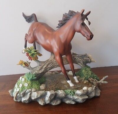 "Lenox ""morning Turnout"" Jumping Horse Figurine 9"" Tall Retired 2002 Rare Euc"