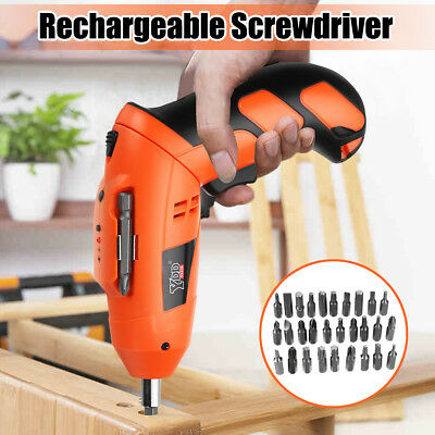 45 in 1 Set Electric Screwdriver 4.8V  Rotatable Cordless Drill Unscrew Tool Set