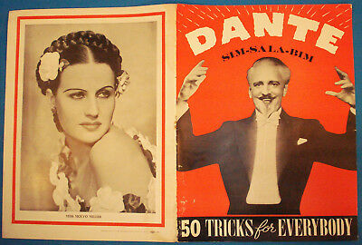Dante-Sim Sala Bim-Show Booklet-1940s-Orange Cover-Show/Personal Photos-vFINE-Op