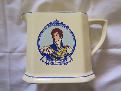 King George Iv Old Scotch Whisky Water Jug Wade Regicor England Scarce Excellent
