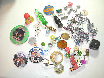 Collectable Junk Drawer Treasures Miniatures ,toys,pinbacks,and Misc #2