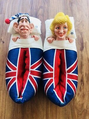 Princess Diana and Prince Charles Slippers
