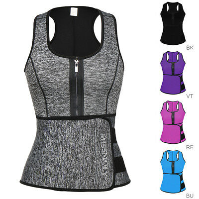Women Waist Trainer Vest Slimming Sauna Sweat Belt Body Shaper Fitness Corset AU