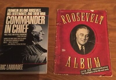 Roosevelt Album Booklet World War Two Era And Commander In Chief Book